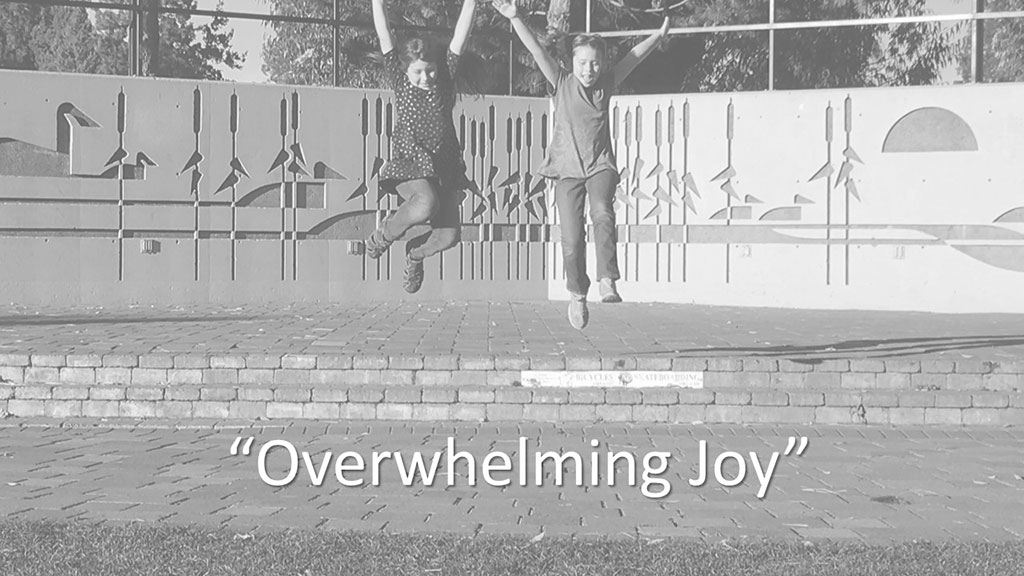 "Sun Prairie UMC Online Worship Introduction image ""Overwhelming Joy"""